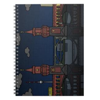 De Brug Berlijn van Oberbaum bij nacht Ringband Notitieboek