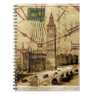 De brug clocktower de Big Ben van de Toren van Ringband Notitieboek