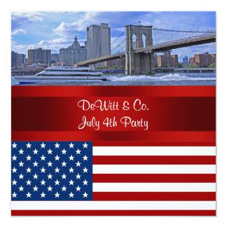 De Brug de V.S. van Bklyn van de Horizon NYC 13,3x13,3 Vierkante Uitnodiging Kaart
