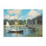 De brug in Argenteuil door Claude Monet Canvas Afdruk