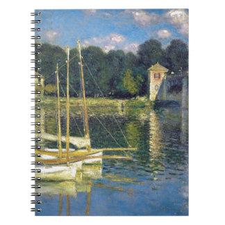 De brug in Argenteuil door Claude Monet Ringband Notitieboek