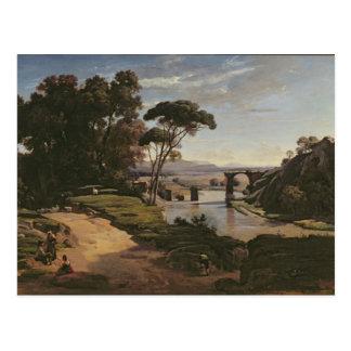 De brug in Narni, c.1826-27 Briefkaart