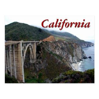 De Brug van Bixby, Californië Briefkaart