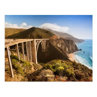 De Brug van Bixby, Grote Sur, Californië, de V.S. Briefkaart