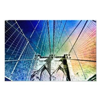 De Brug van Brooklyn - in Ijs wordt bevroren - NYC Fotoprints