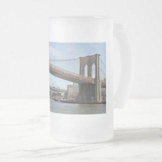 De Brug van Brooklyn Matglas Bierpul
