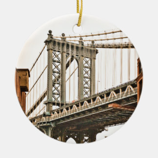 De Brug van Brooklyn Rond Keramisch Ornament