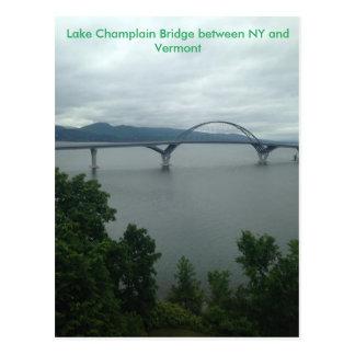 De Brug van Champlain van het meer tussen NY en VT Briefkaart