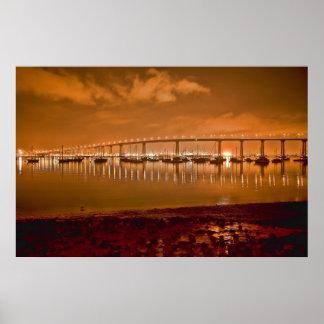 De Brug van de Baai van Coronado bij het Poster va