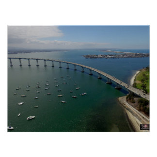 De Brug van de Baai van Coronado van San Diego Poster