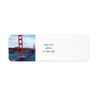 De Brug van de Baai van San Francisco Etiket