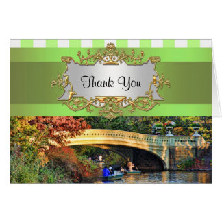 De Brug van de boog, Central Park NYC dankt u Notitiekaart