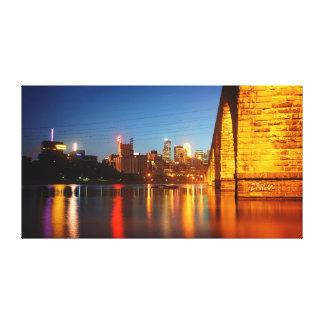De Brug van de Boog van de Steen van Minneapolis Canvas Afdruk
