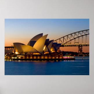 De Brug van de Haven van het Huis & van Sydney van Poster