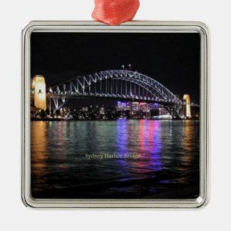 De Brug van de Haven van Sydney Zilverkleurig Vierkant Ornament