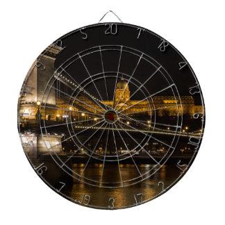 De Brug van de ketting met Buda Kasteel Hongarije Dartbord