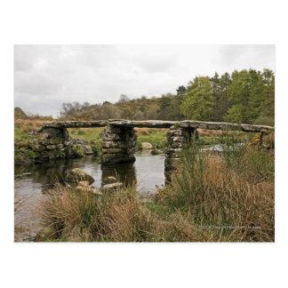 De Brug van de klep in Nationaal Park Dartmoor Briefkaart