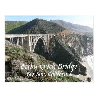 De Brug van de Kreek van Bixby, Grote Sur, Briefkaart