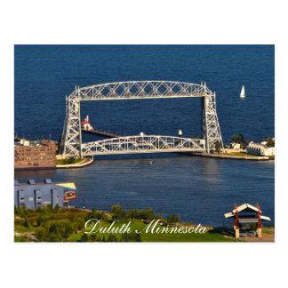 De brug van de Lift van Duluth Minnesota Briefkaart