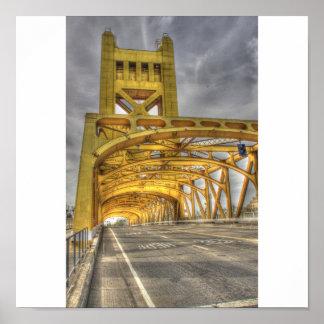 De Brug van de Toren van Sacramento Poster
