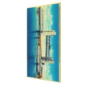 De Brug van de toren voor de Rivier die van Sacram Gallerij Wrap Canvas
