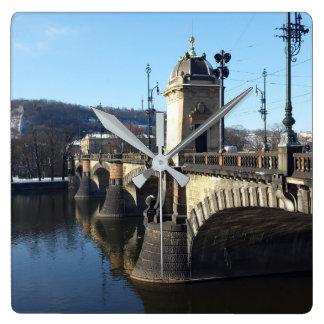 De brug van het Legioen, de Klok van Praag