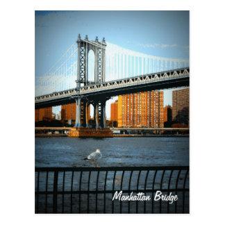 De brug van Manhattan Briefkaart