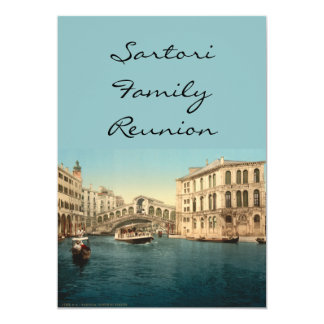 De Brug van Rialto en Groot Kanaal, Venetië, 12,7x17,8 Uitnodiging Kaart