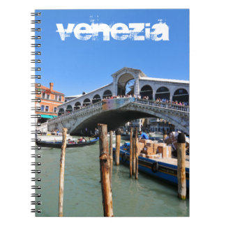 De Brug van Rialto in Venetië, Italië Notitieboek