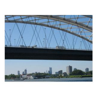De Brug van Rotterdam over Meuse van de Rivier het Briefkaart