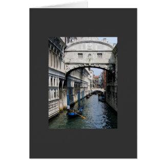 De Brug van Venetië van Sighs Wenskaart