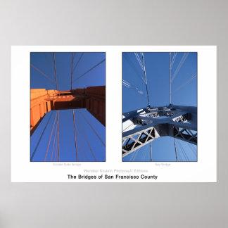 De bruggen van de Provincie van San Francisco Poster
