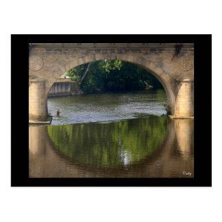 De bruggen van Wenen Limoges Briefkaart