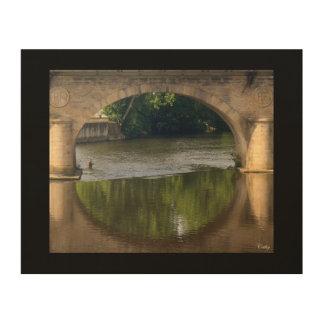 De bruggen van Wenen Limoges Hout Afdruk