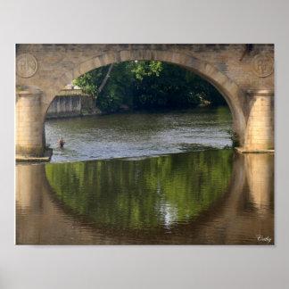 De bruggen van Wenen Limoges Poster