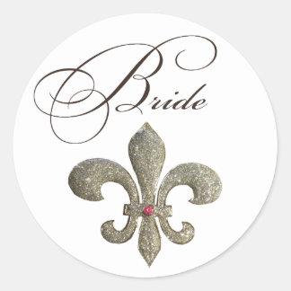 De Bruid Bling van DE lis NOLA van Fleur Ronde Sticker