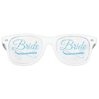 De bruid bloeit Blauw Retro Zonnebril
