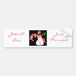 """De """"bruid & de Bruidegom huwden enkel III"""" Sticker Bumperstickers"""