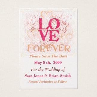 De Bruid & de Bruidegom van de Liefde van het Visitekaartjes