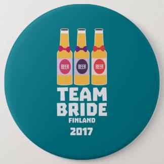 De Bruid Finland van het team 2017 Zk36v Ronde Button 6,0 Cm
