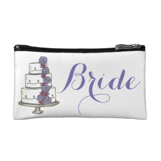 De BRUID personaliseerde de Bloemen Bruids Gift Make-up Bag