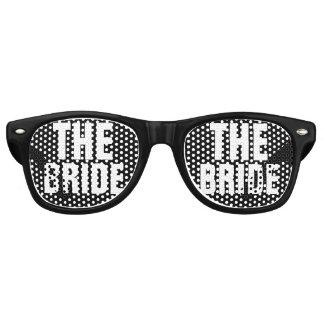 De bruid retro zonnebril