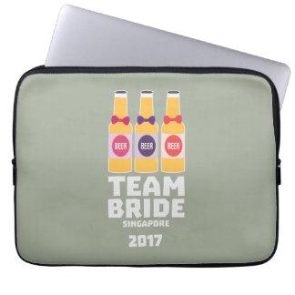 De Bruid Singapore van het team 2017 Z4gkk Laptop Sleeve