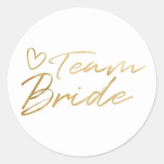 De Bruid van het team - de Gouden sticker van de