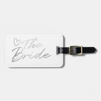 De bruid - Zilveren de bagagelabel van de