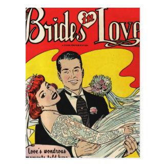 De bruiden houden van briefkaart