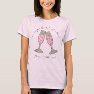 De Bruids Partij van Champagne van de Douane van T Shirt