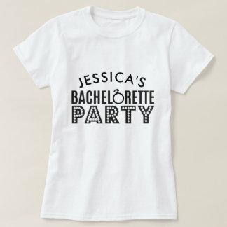 De bruids Partij van de Vrijgezellin van de Douane T Shirt