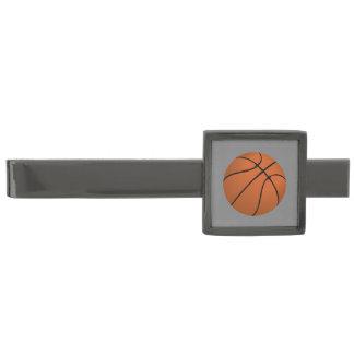 De bruine Bal van het Basketbal op Middelgrote Verbronsde Dasspeld