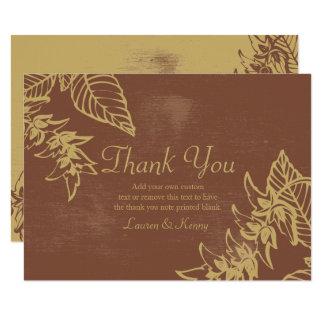 De bruine & Gouden Bladeren van de Baai, Herfst 8,9x12,7 Uitnodiging Kaart